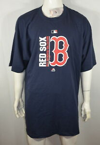 Majestic Red Sox Boston 4XL Authentic Collection Big & Tall T shirt Blue NWT