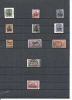 Memel, Litauen 1920, Einzelmarken aus MiNrn: 1 - 169 o, geprüft Huylmans BPP