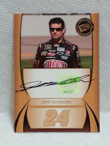 2010 Press Pass Authentics Nascar Jeff Gordon Autograph Auto #d 11/20 SSP JG24