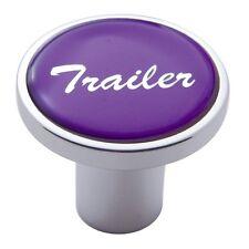 knob trailer screw on purple glossy sticker for Kenworth Peterbilt Freightliner
