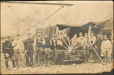 GUERRE 14/18 CARTE PHOTO SOLDATS ESCADRON DU TRAIN ATELIER REPARATION MATERIEL