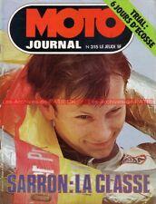 MOTO JOURNAL  315 MORINI 250 MJ 200 ISDT Grand Prix d'Allemagne Hockenheim 1977