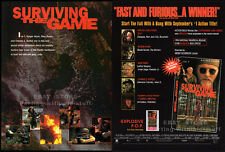 SURVIVING THE GAME__Original 1994 Trade AD promo__GARY BUSEY_ICE-T__RUTGER HAUER