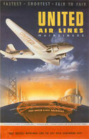 "Vintage United ""Mainliners"" Travel Poster"
