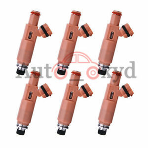 6PCS New Fuel Injector 23250-0A020 For Toyota Camry Highlander Sienna Solara XYD