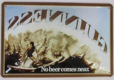 """Heart Of Ireland Embossed Metal 8""""x12"""" Sign Guinness No Beer Comes Near - Surfer"""