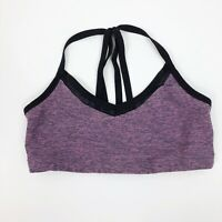 Beyond Yoga Strappy Sports Bra Heathered  Pink Women's Size S Small