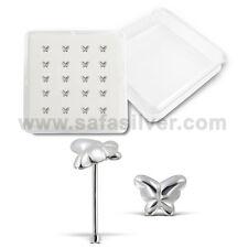 20pcs Wholesale Lot Silver 925 lovely butterfly design nose stud