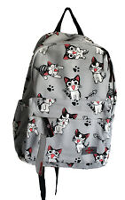 GREY with CUTE CATS PRINT backpack/rucksack/ SCHOOL BAG, surfer new
