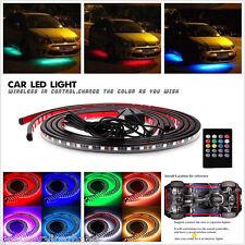 LED Strip Under Car Tube Underglow Underbody Glow System Neon Light Kit + Remote
