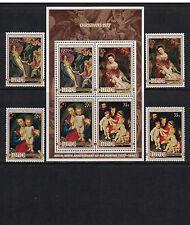 Br CW: Niue1977: #199-202a Christmas '77 & Rubens Anniv NH; Paintings -Lot#7/18