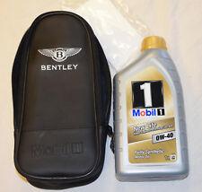 GENUINE BENTLEY ENGINE OIL 0-W40 BOTTLE 1L POUCH CASE SET MOBIL 1