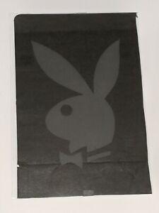Vintage Rare Playboy Magazine Bunny Logo Mirror Glass Sign Authentic Light Grey