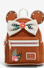 Mickey Minnie Mouse Disney Loungefly Fall Floral Mini Backpack Brand New!