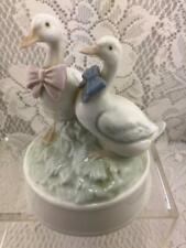 Vintage Otigari Music Box~2 Geese Boy Girl~Plays True Love