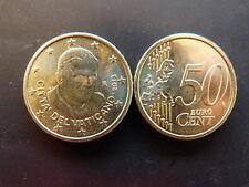 Pièce monnaie VATICAN 0,50 € 2013 PAPE BENOIT XVI NEUF UNC sortie de rouleau 1