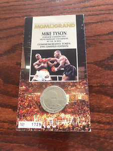 VERY NICE MGM GRAND MIKE TYSON vs BERBICK  BOXING COIN COMPLETE PACKAGE