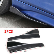 Universal 2X Rear Lip Side Skirt Extension Rocker Splitters Winglet Wings Bumper