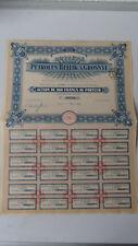 Société des Petroles Bellik A Grosnyi-Action de 500 Francs au Porteur-1921