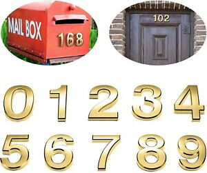 Self Adhesive Gold Door Numbers Address Stickers Number Letter House Apartment