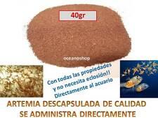 ARTEMIA 40 gr DESCAPSULADA SIN CASCARA NO ECLOSION comida acuario alevines cria