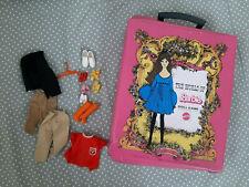 Alter Barbie Koffer mit Kleidung MATTEL Vintage 1968 Doll case