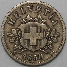 1850 BB   Switzerland 10 Rappen   Billon   Coins   KM Coins