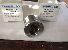 General Lock Mortise cylinder housing MC-IC7-ST-626 satin chrome 6 pin -lot of 2
