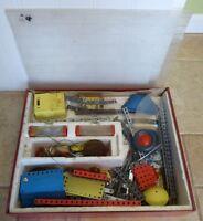 VTG. Gilbert Erector Electric Engine Set W/motor & plans walkie talkie box More