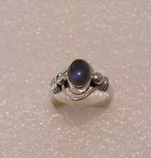 MARVELOUS STERLING SILVER 925 WIREWORK MOONSTONE RING SIZE 7
