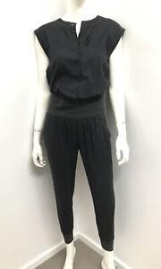 FLANNEL Designer Label Ink Cotton Pocket Jumpsuit Pantsuit ~ size 0/8