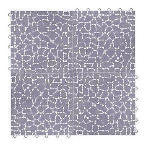24 Interlocking Plastic Garden Patio Path Tiles Decking Floor Lawn Paving Walkw