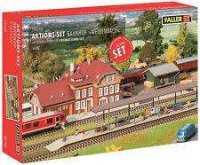 FALLER 190288 H0 Aktions-Set Bahnhof Weidenbach ++ NEU & OVP ++