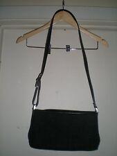 Liz Claiborne Designer Handbag Black Shoulder Strap with Buckle Design + Wallet