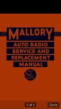Vintage 1932-35 Auto Car Radio Installation Manual CD