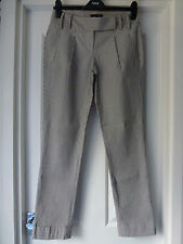 Tommy Hilfiger unusual striped straight leg ladies trousers with turn ups UK6NEW