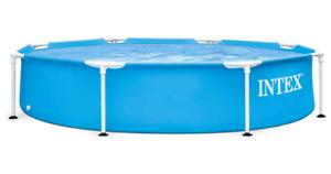 Intex 8ft Metal Frame Family Swimming Pool Summer Garden Patio Paddling Pools ✅