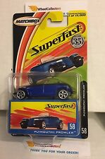 #1 Plymouth Prowler #58 * Blue * Matchbox Superfast * F14