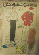 Jane Arden Sunday with Large Uncut Paper Doll from 7/1/1934 Full Size Page!