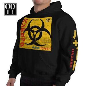 Men's Hoodie Biohazard PANDEMIC Pullover Hooded Sweatshirt Graphic  Anime Hoodie