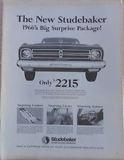 Vintage 1965 magazine ad for Studebaker - Commander, 1966's Big Surprise Package