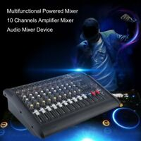 2000W Watt 10 Channel Professional Powered Mixer power Mixing Amplifier Amp MX