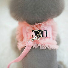 Princess Dog Harness and Leash Small Pet Cat Puppy Vest Walking Safety Control