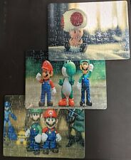 Set of 3 Super Mario Jigsaw Puzzles - with Toad and Yoshi! Custom Puzzles