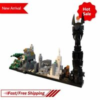 MOC Magic Castle Movie Collection Castle RINGS Skyline Architecture Kid Toy Gift