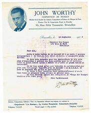 3 lettres de JOHN WORTHY 1930 BRUXELLES