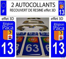 2 ADESIVI RICOPERTI DI RESINA REGISTRAZIONE DIPARTIMENTO BOCCHE DEL RODANO 13