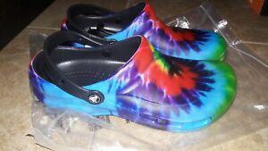 NEW  Mens Crocs Bistro Graphic Clogs Shoes, size 11