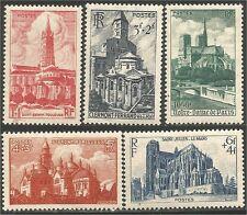 France 772-76 Cathédrales Basiliques 1947 neufs ** luxe 12,50 euros (cb5)