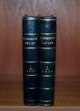 1857 LEATHER BOUND WESTMINSTER REVIEWS 2 x Vols GUNPOWDER Persia AMERICAN UNION